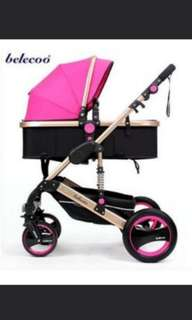 Belecoo Q3 pink  stroller for sale