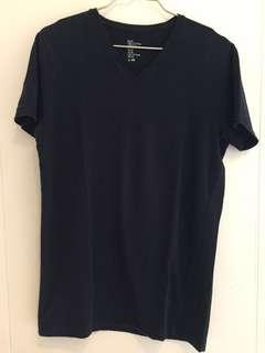 H&M T-Shirt Basic Fine Cotton Stretch