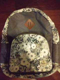 Flower grey backpack