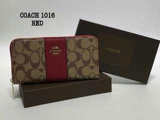 Coach Wallet Red Color