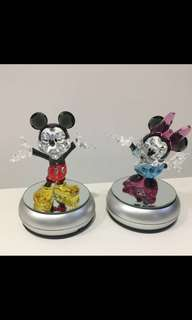 SWAROVSKI CRYSTAL Mickey & Minnie Mouse