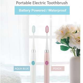 🚚 *New Arrival* Portable Electric Toothbrush/ Light & Slim/ Battery Powered / Waterproof