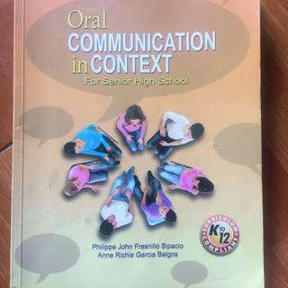 oral communication in context book