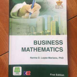 business mathematics book