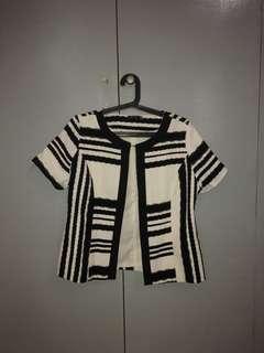 SM Woman short sleeve black and white blazer