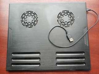 Notebook 散熱器 雙風扇 USB電源