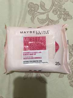 Maybelline Micelar Cleasing Wipes Makeup Remover