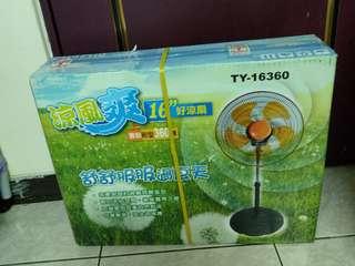 全新 涼風爽16吋360度好涼扇 電風扇 台灣製 型號TY-16360