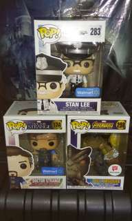 (ON HAND) Stan Lee Cameo, Doctor Strange & Cull Obsidian Marvel Funko Pop Bundle
