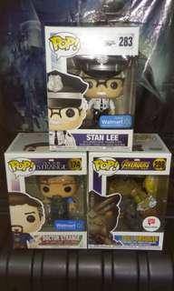 (ON HAND) Stan Lee Cameo, Doctor Strange & Cull Obsidian Marvel Funko Pop Bundle