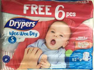 Drypers Diapers S size