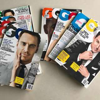 Bundle of 9 GQ US back issues