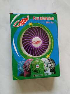 Portable Fan rechargeable with usb cable