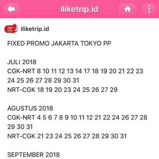 Tiket pesawat Jakarta Tokyo PP