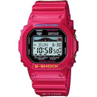 CASIO G-SHOCK G-LIDE series GRX-5600A 桃紅色 Tough Solar 光動能 GSHOCK GRX5600A