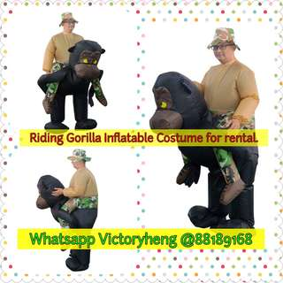 Riding Gorilla Riding Inflatable Costume for rental