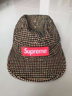 🚚 Supreme Cap colourful houndstooth