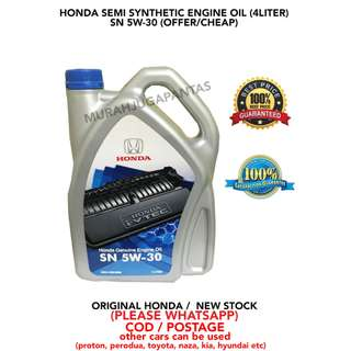 HONDA SEMI SYNTHETIC 5W-30 ENGINE OIL (OFFER & CHEAP)