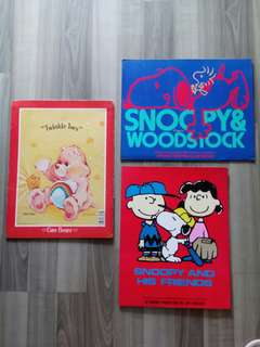 Care bear and Snoopy paper folders