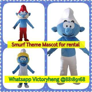 Smurf Theme Mascots for rental