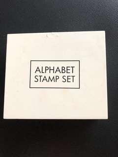 Alphabet Stamp set (Brand new)