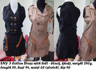 Dress formal 2 warna, take all 200k, ada sabuknya