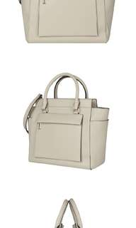 Charles and keith cream structured bag