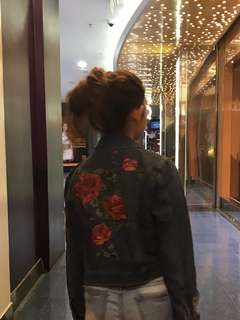 Cotton On Ripped Embroidered Denim Jacket