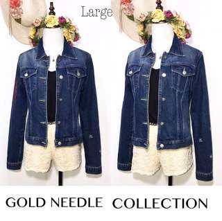 Branded Imported Denim Jacket With Embroidered Stylish FP3
