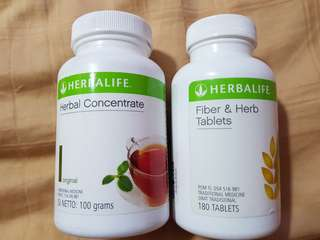 🚚 Herbalife (concentrate tea + fiber and herb tablet)