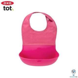 Oxo Tot Roll Up Bib | Pink [BG-6129000]