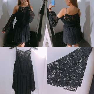 🚚 A&F女生 氣質蕾絲造型洋裝