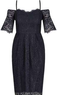 City Chic Amour Dress (Navy)