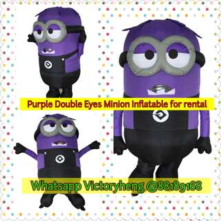 Purple Double Eyes Minions for rental