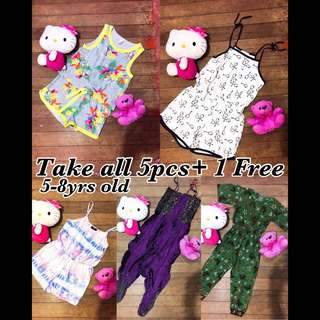 Take all Preloved Kids Rompers Jumpsuit 5-8yrs