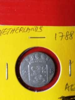 Netherland 1 struver silver 1788 nice AU