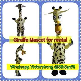 Giraffe Mascot for rental
