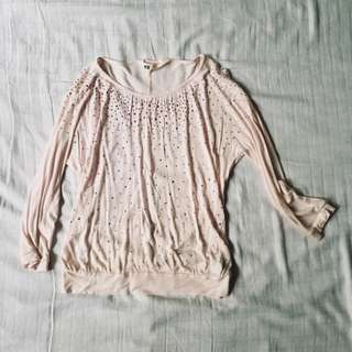 H&M PINK SPARKLE LONG SLEEVES TOP