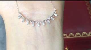布拉契緹風格露珠邊鑽石項鍊