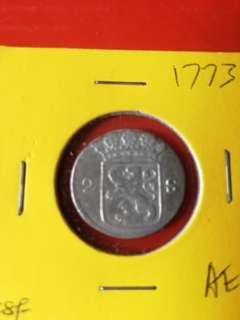 Netherland 1 struver silver 1773AU/ UNC