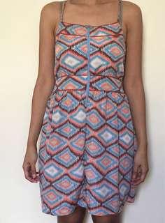Printed spaghetti strap dress