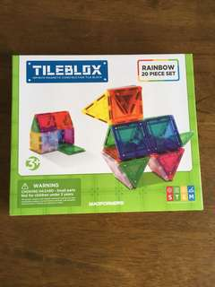 Tilebox by Magformers (Rainbow 20 pieces)