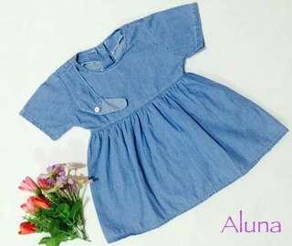 Dress Aluna Soft Jeans Anak PROMO