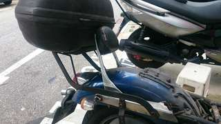 Honda Phantom TA200 ta150 Rear rack and Givi e46