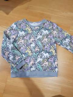 H&M sweater little pony size 130-140 or 8-10yo