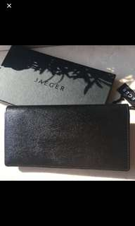 Authentic n new Jaguar classic black leather long wallet bought in London