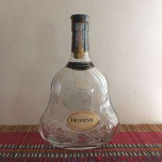 Hennessy XO empty liquor bottle
