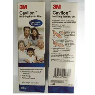 Cavilon Spray. No Sting Barrier Film. 28ml. Price is per bottle.  3 bottles available.