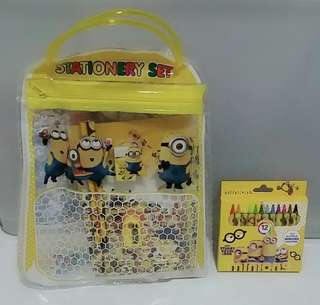 Children Birthday Party Gifts- Handbag Goodie Bag and crayon