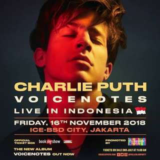 Charlie Puth Voicenote Live in Indonesia